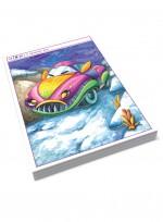 [미술학원 교재] 퍼니카 수채화 그림 자료집, 재미있는 자동차 카툰 애니메이션 일러스트레이션, 로보트 수채화