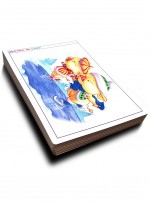 [미술학원 교재] 캐릭터 300 ② 수채화, 수채로 그린 카툰과 캐릭터, 애니메이션 자료집 100컷 수록