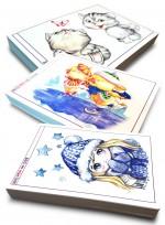 [미술학원 교재] 캐릭터 300 ① 색연필, ② 수채화, ③ 인물, 카툰과 캐릭터, 애니메이션 자료집 300페이지
